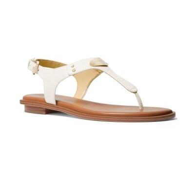 マイケルコース サンダル シューズ レディース MK Plate Flat Thong Sandals Light Cream