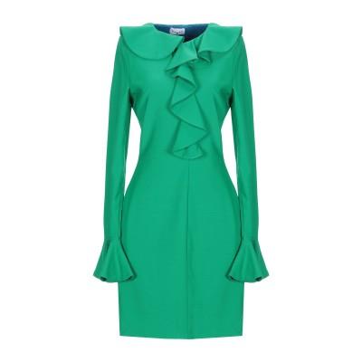 LEITMOTIV ミニワンピース&ドレス グリーン 44 ウール 89% / ナイロン 9% / ポリウレタン 2% ミニワンピース&ドレス