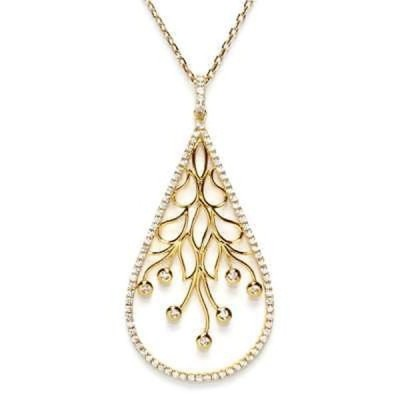 Athra Luxe Collection 海外直輸入ブランドアクセサリー Athra Luxe Goldplated スターリング シルバー キュービックジルコニア ティアドロップ ペンダント