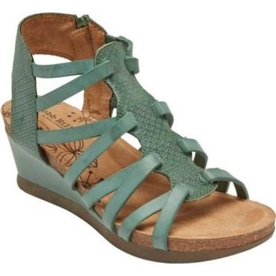 ロックポート Rockport レディース サンダル・ミュール グラディエーターサンダル ウェッジソール Cobb Hill Shona Wedge Gladiator Sandal Green Leather