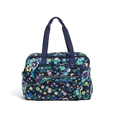 (新品) Vera Bradley Signature Cotton Deluxe Weekender Travel Bag, Moonlight Garden