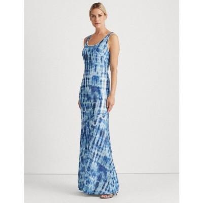ラルフローレン ワンピース トップス レディース Sequined Tie-Dye Maxidress Navy Blue Tie Dye