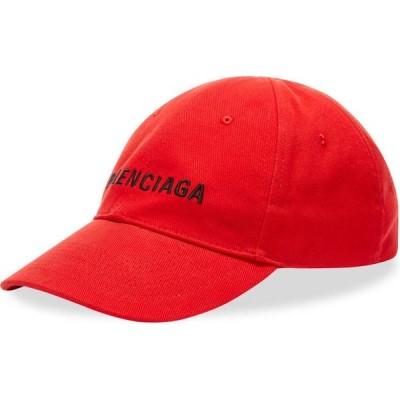 バレンシアガ Balenciaga メンズ キャップ 帽子 Logo Cap Red/Black