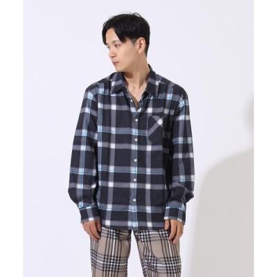 シャツ ブラウス 【06 BURNER SELECT】チェックプリント レギュラーシャツ