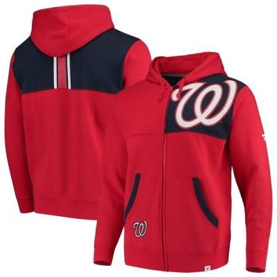 ワシントン・ナショナルズ Fanatics Branded Iconic Bold Full-Zip Hoodie - Red/Navy