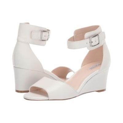 タハリ レディース ヒール シューズ Pacen Wedge Sandal Cream Leather