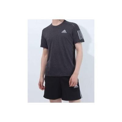 アディダス adidas メンズ 陸上/ランニング 半袖Tシャツ OWN THE RUN TEE COOLER M GK6059 (ブラック)