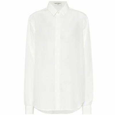 イヴ サンローラン Saint Laurent レディース ブラウス・シャツ トップス Silk crepe de chine blouse Shell