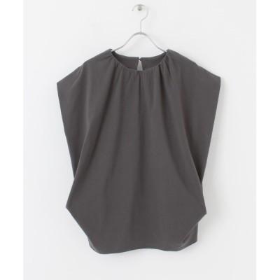 KBF / 【WEB/一部店舗限定】ネックギャザーカットソー WOMEN トップス > Tシャツ/カットソー