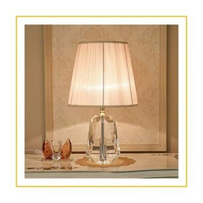 【☆送料無料☆新品・未使用品☆】Bedside Table Lamp Modern Nightstand Lamp with Fabric Shade and Metal Crystal Lamp for Bedro