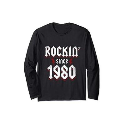 Rockin since 1980 40歳の誕生日プレゼント40歳ハードロック 長袖Tシャツ