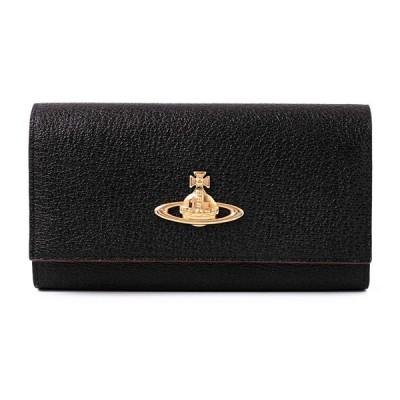 ヴィヴィアンウエストウッド Vivienne Westwood 二つ折り 長財布 本革 EXECUTIVE 小銭入れあり 3118C91 ショップバッグ付き (名入れなし, ブラック)
