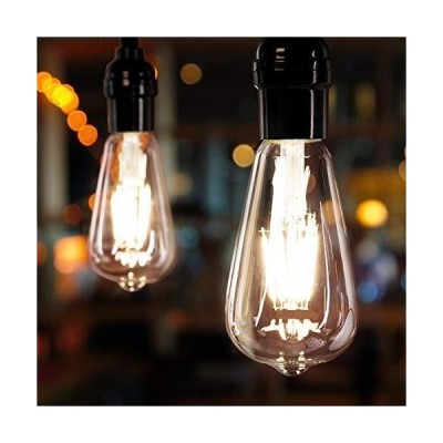 Brightown LED電球 6個パック 60ワット相当 調光機能付き エジソン電球 6W E26口金 ヴィンテージLED電球 アンバー電