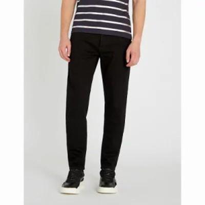 バルマン ジーンズ・デニム logo-applique tapered jeans Noir