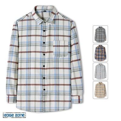 シャツ メンズ 長袖シャツ カジュアルシャツ シャツ チェックシャツ ライン 春 トップス 2021 秋物 ビジネス スウェット オシャレ