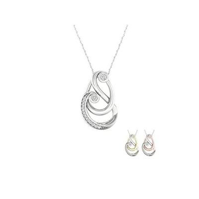 【新品】IGI認定 1/6Ct TDW ダイヤモンド スターリングシルバー 母と子のネックレス