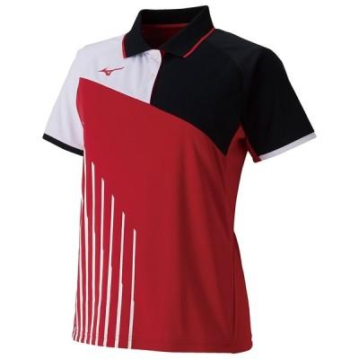 MIZUNO ミズノ ゲームシャツ ラケットスポーツ レディース バーチャルピンク テニス バトミントン 62JA9213 65