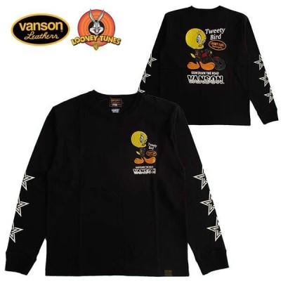 VANSON バンソン Looney Tunes ルーニー・テューンズ メンズ長袖Tシャツ ロンT