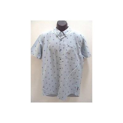 リップカール カジュアルシャツ トップス SALE RIP CURL サーフ メンズ クロス PALMS ブルー SHIRT サイズ L ラージ FF60 rp54.5