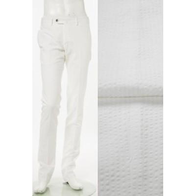PT01 ピーティーゼロウーノ パンツ スラックス ホワイト メンズ (RIDS01Z BS08) 送料無料