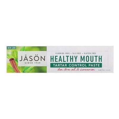 Healthy Mouth(ヘルシーマウス)、歯石コントロールペースト、ティーツリーオイル&シナモン、119g(4.2oz)
