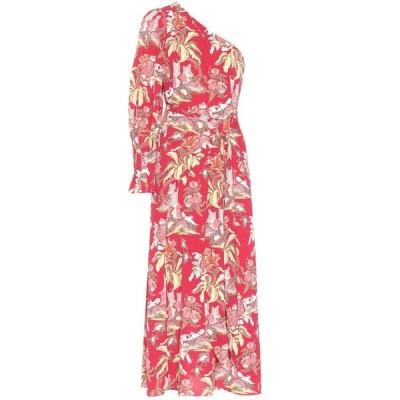 ピーター ピロット Peter Pilotto レディース ワンピース ミドル丈 ワンピース・ドレス Printed crepe midi dress Flower Canopy Red