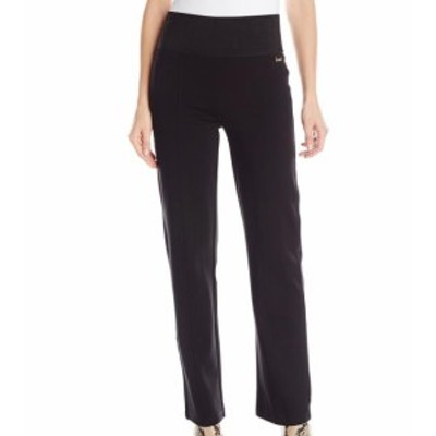 Calvin Klein カルバンクライン ファッション パンツ Calvin Klein NEW Black Womens Size Medium M Hi-Rise Straight Leg Pants