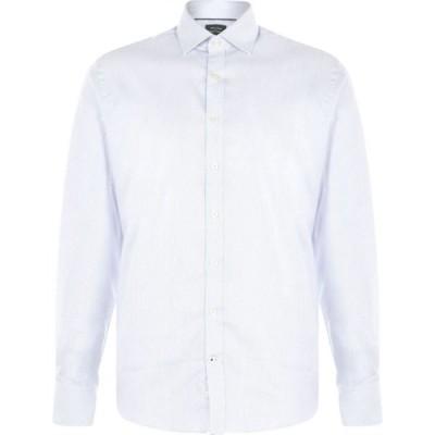 Westend By Simon Carter メンズ シャツ トップス dobby hairline stripe shirt Blue