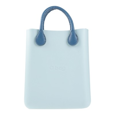 O BAG ハンドバッグ スカイブルー コットン 100% / ポリエチレン ハンドバッグ