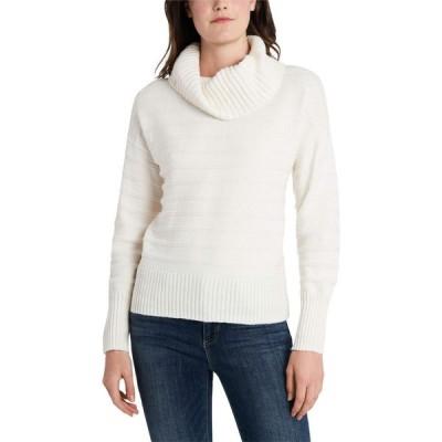 ヴィンス カムート Vince Camuto レディース ニット・セーター トップス Long Sleeve Textured Stripe Cowl Neck Sweater Antique White
