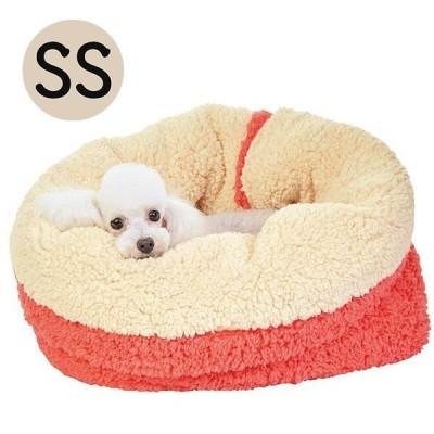 抗菌防臭ふんわりカドルベッド SS 犬 猫 ベッド ふわふわ あったか もちもち 秋冬 寒さ対策 丸洗い マット もぐる 軽量 お出かけ ペット PE