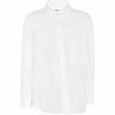 バレンシアガ Balenciaga レディース ブラウス・シャツ トップス twisted cotton shirt White