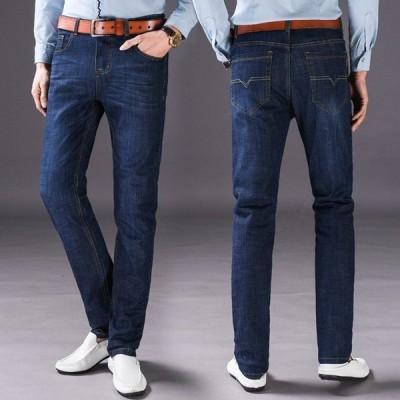 デニムジーンズ メンズパンツ カジュアルパンツ ストレッチ ゆったり 着やすく 履き心地抜群 定番