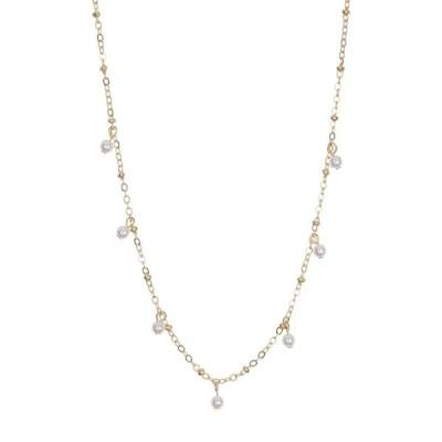 ビーピー レディース ネックレス・チョーカー・ペンダントトップ アクセサリー Gold-Tone Mini Charm Dangle Pendant Chain Necklace GOLD- PEARL
