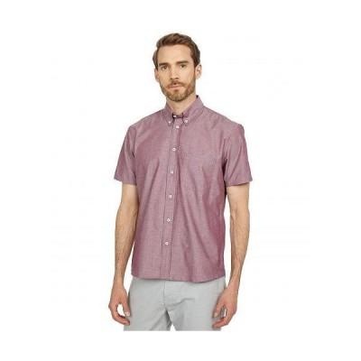 Billy Reid ビリーレイド メンズ 男性用 ファッション ボタンシャツ Short Sleeve Tuscumbia Shirt - Plum