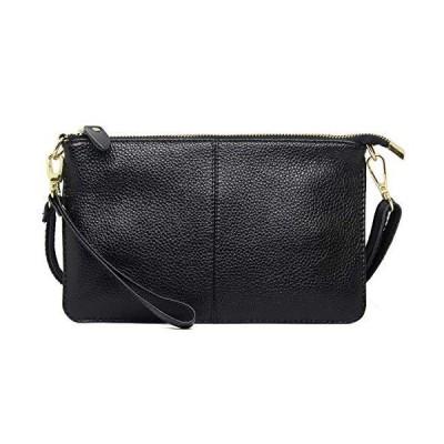 imeetu Crossbody Bag Leather Handbag, Small Purses Phone Bag for Women Zipper Pocket(Black)