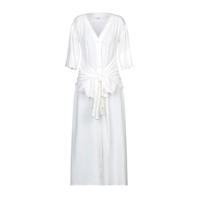 TENAX 7分丈ワンピース・ドレス ホワイト 42 レーヨン 100% 7分丈ワンピース・ドレス