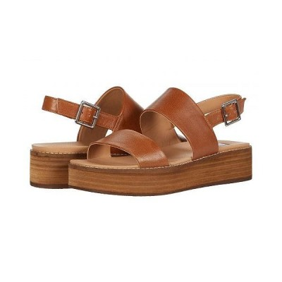 Steve Madden スティーブマデン レディース 女性用 シューズ 靴 ヒール Teenie Wedge Sandal - Cognac Leather