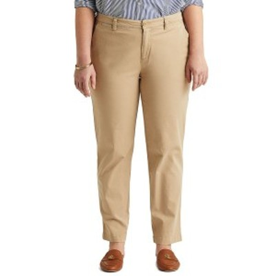 ラルフローレン レディース カジュアルパンツ ボトムス Plus-Size Slim Fit Stretch Chino Pants Tan