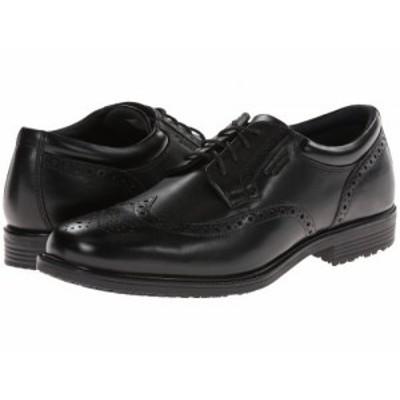 Rockport ロックポート メンズ 男性用 シューズ 靴 オックスフォード 紳士靴 通勤靴 LTP Wing Tip Black WP Leather【送料無料】