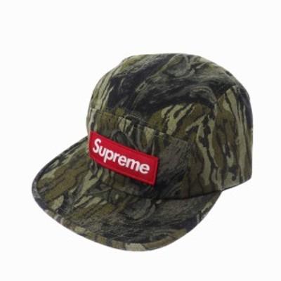 【中古】未使用品 シュプリーム SUPREME Mossy Oak 18AW Military Camp Cap ミリタリーキャンプ 帽子 ツリーカモ