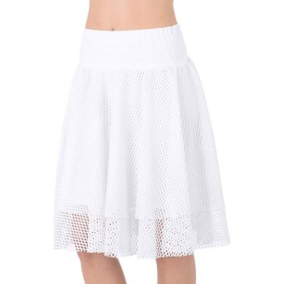 プーマ PUMA ひざ丈スカート ホワイト XS ポリエステル 100% ひざ丈スカート