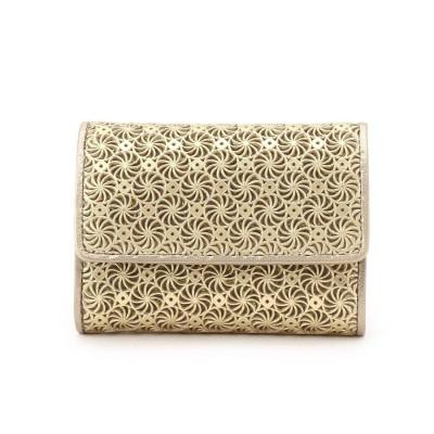 ヒロコ ハヤシ HIROKO HAYASHI GIRASOLE(ジラソーレ) ミニ三つ折財布 (ゴールド)
