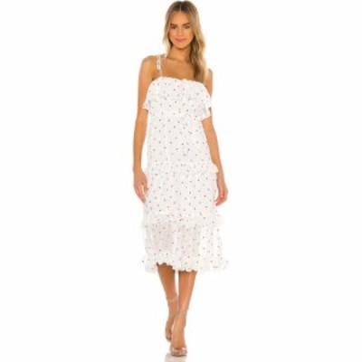 マジョレル MAJORELLE レディース ワンピース ミドル丈 ワンピース・ドレス Edna Midi Dress White Ditsy