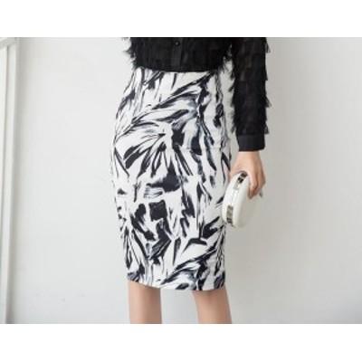 二着送料無料!S-5XL スカート フレア タイトスカート フォーマル 大きいサイズ ミディアム丈 ミモレ丈 花柄 タイトスカート マーメ
