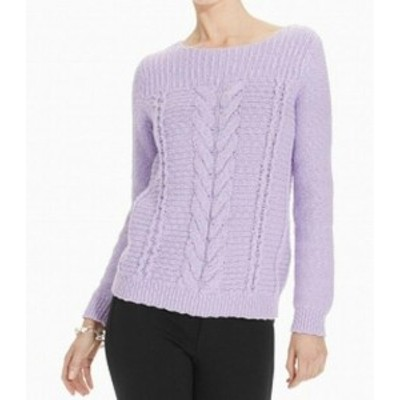 Jones New York ジョーンズニューヨーク ファッション トップス Jones New York Womens Sweater Purple Size XL Boat Neck Cable-Knit