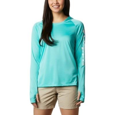 コロンビア パーカー・スウェットシャツ アウター レディース Columbia Sportswear Women's Tidal Tee Hoodie Aqua or Turquoise 03