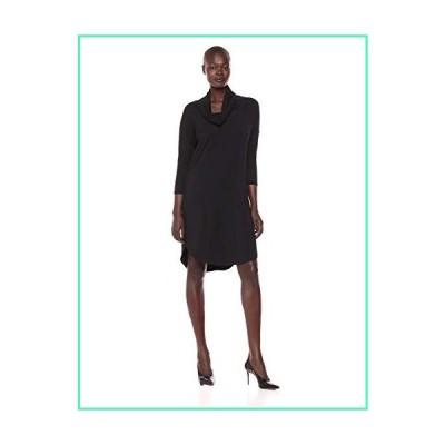 Michael Stars Women's Jules Jersey 3/4 Sleeve Cowl Neck Dress, Black, Extra Small並行輸入品