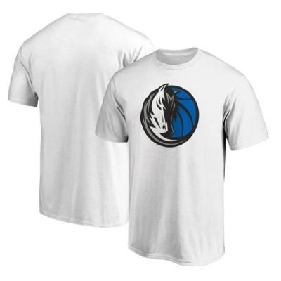 ユニセックス スポーツリーグ バスケットボール Dallas Mavericks Fanatics Branded Primary Team Logo T-Shirt - White Tシャツ