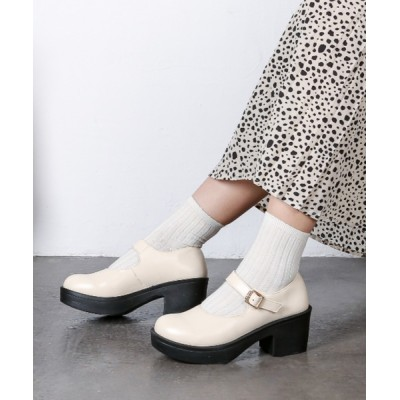 Shoes in Closet -シュークロ- / メリージェーンストラップ 厚底パンプス 軽量ソール使用《ヒール約6.0cm》1985 WOMEN シューズ > ドレスシューズ